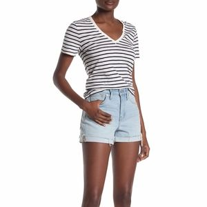 Madewell High Waisted Light Wash Denim Shorts